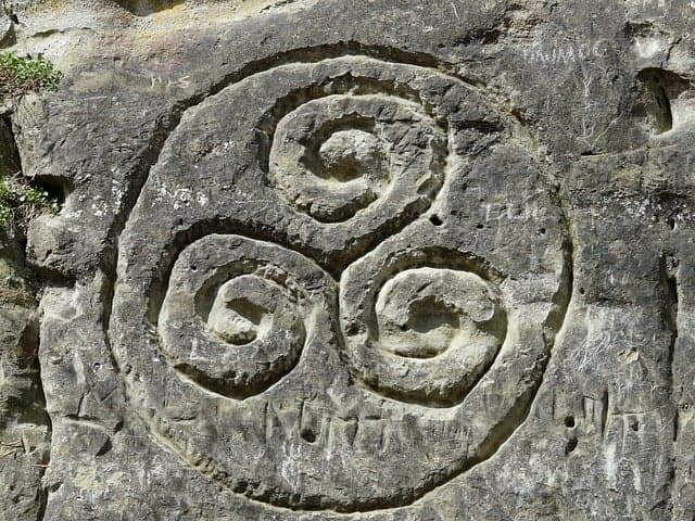 Example of a Triskele spiral