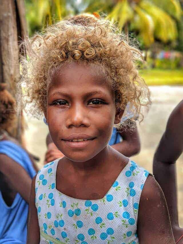 Young Girl in the Solomon Islands