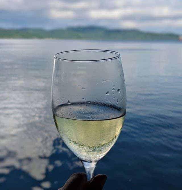 Wine on the MV Taka