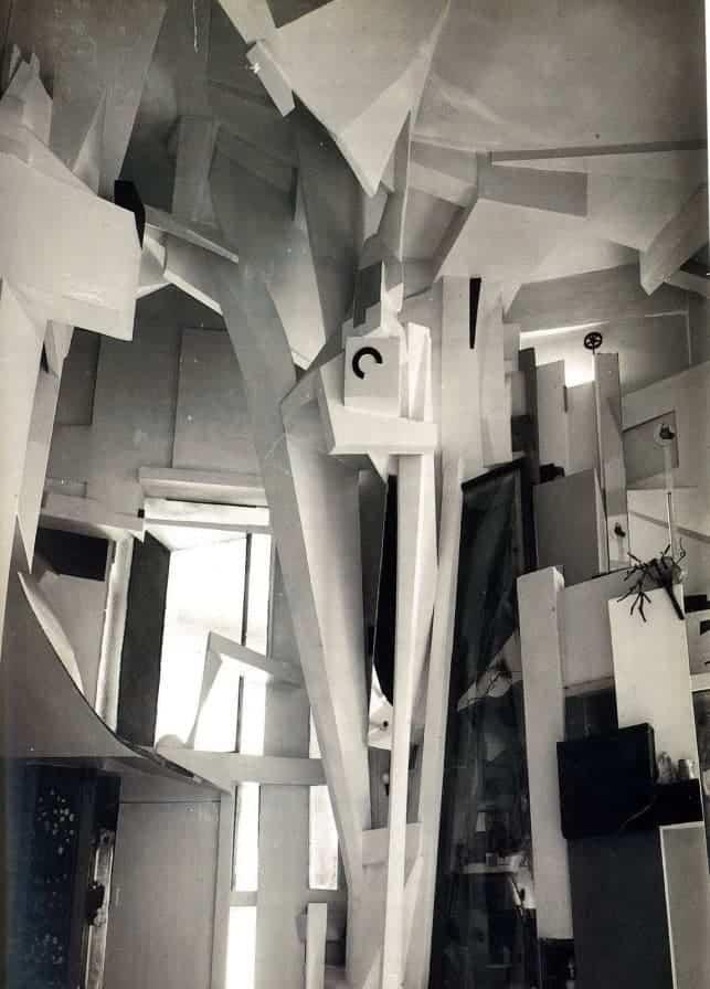 The Hannover Merzbau (1933) by Kurt Schwitters.
