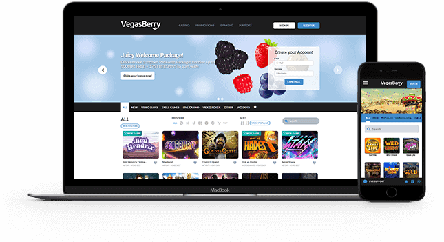 Vegas Berry Casino Online and Mobile