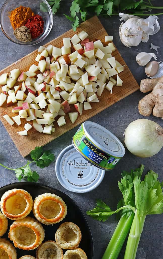 Wild Selections White Albacore Tuna and Tuna Puffs Ingredients