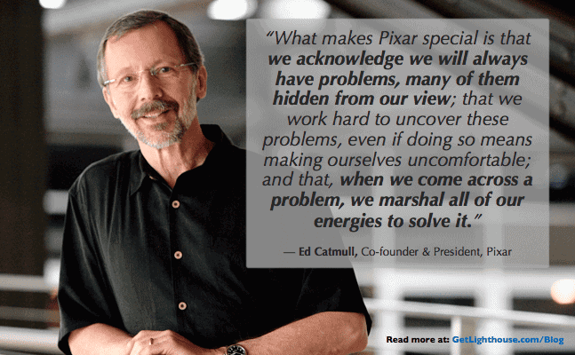 management debt - ed catmull always seeks out problems