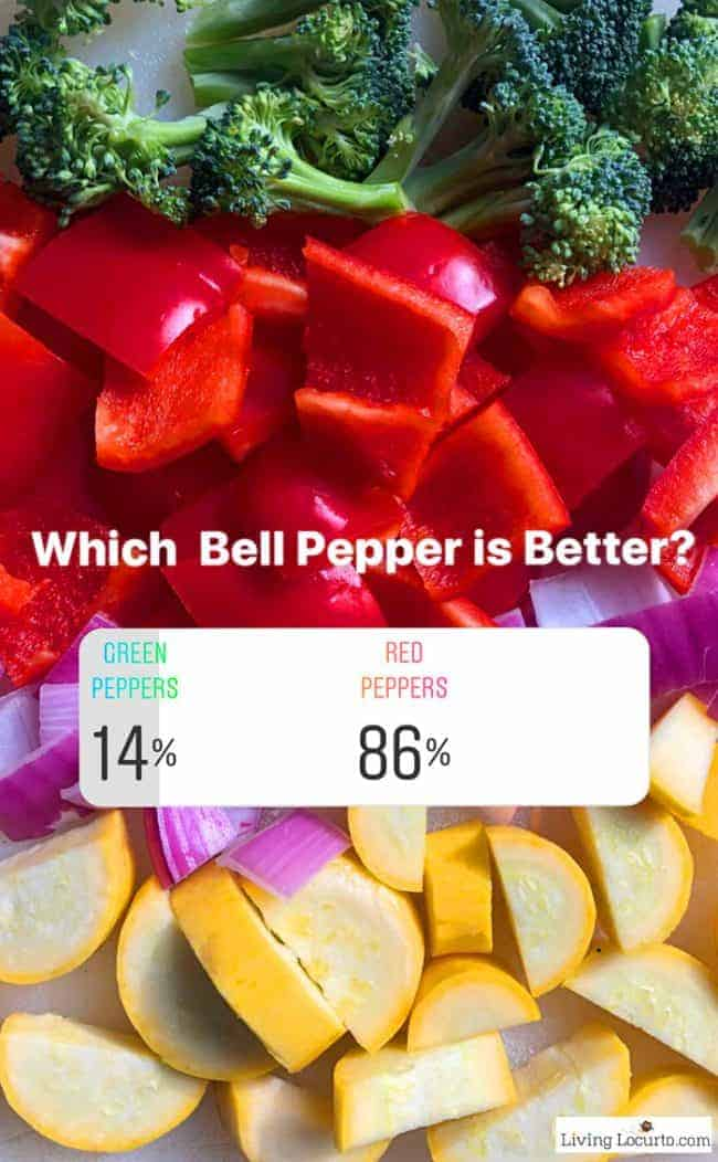 Sheet Pan Chicken Sausage recipe and Bell Pepper poll. Which is best green peppers or red peppers?