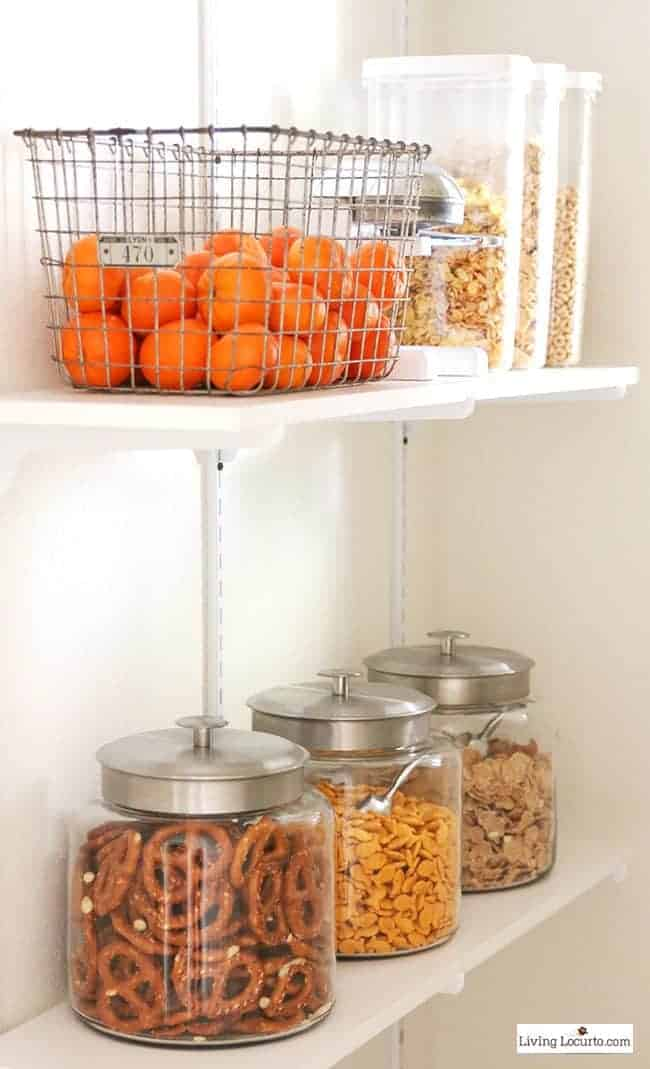 Kitchen Organizing Ideas and Cabinet Storage - Glass Containers for Food Pantry