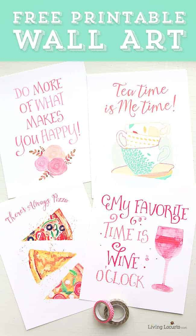 Beautiful Watercolor Free Printable Wall Art to help remind you to relax and take time out for yourself.Positive inspiring quotes. #freeprintable #homedecor