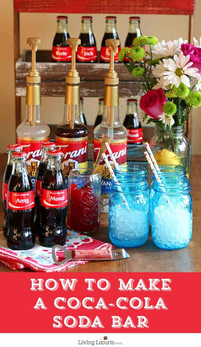 How to make a DIY Coca-Cola Soda Bar. A fun and easy party alternative idea to the Italian Soda Bar. LivingLocurto.com