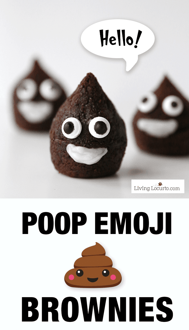 The Best Emoji Cake & Desserts. These easy to make Poop Emoji Brownies are so cute! Adorable chocolate treat for an Emoji Birthday Party celebration.