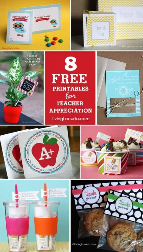 Enjoy these fun Teacher Appreciation Week Free Printables! Download these pretty pdf files to create wonderful gift ideas for your teachers. Find cute gift tags, thank you cards and more!