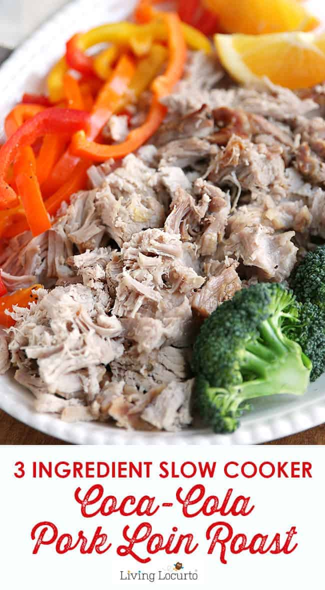 A mouthwatering 3 ingredient Crock Pot Pork Roast recipe. Tender, easy and delicious slow cooker dinner recipe made tender with Coca-Cola.