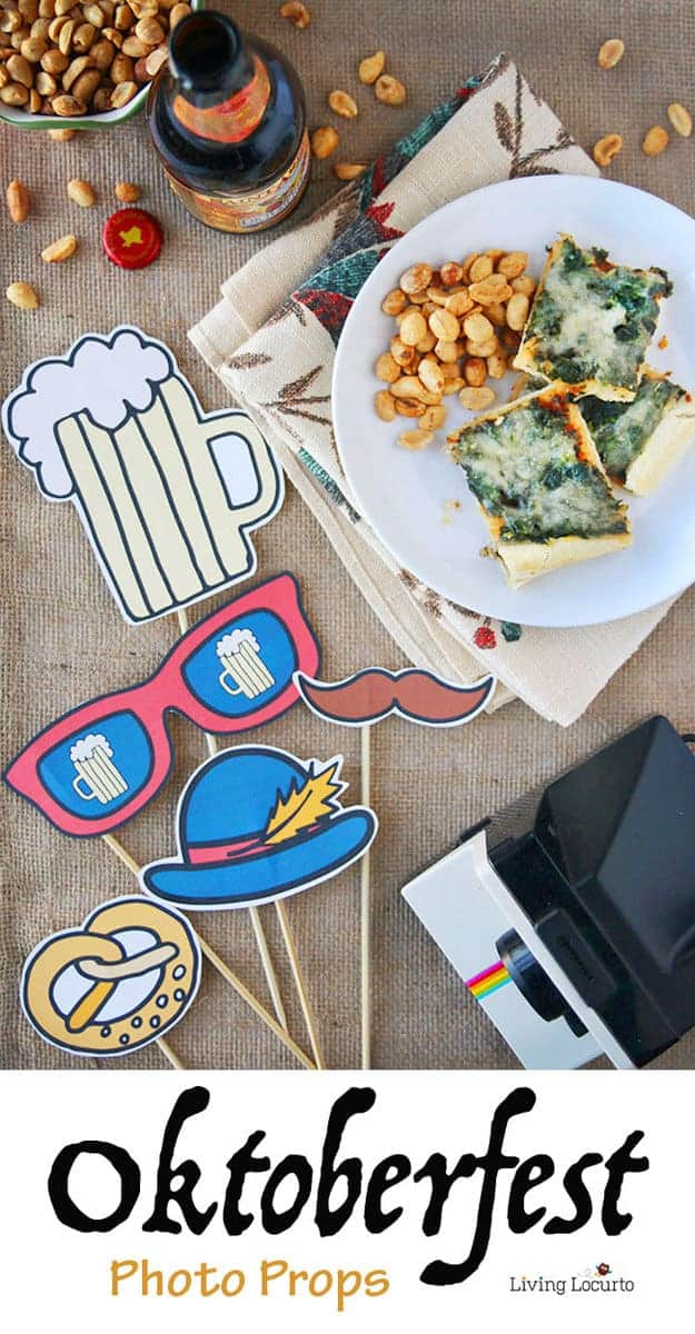 Oktoberfest Free Printable Photo Props - Perfect party ideas for celebrating at home!