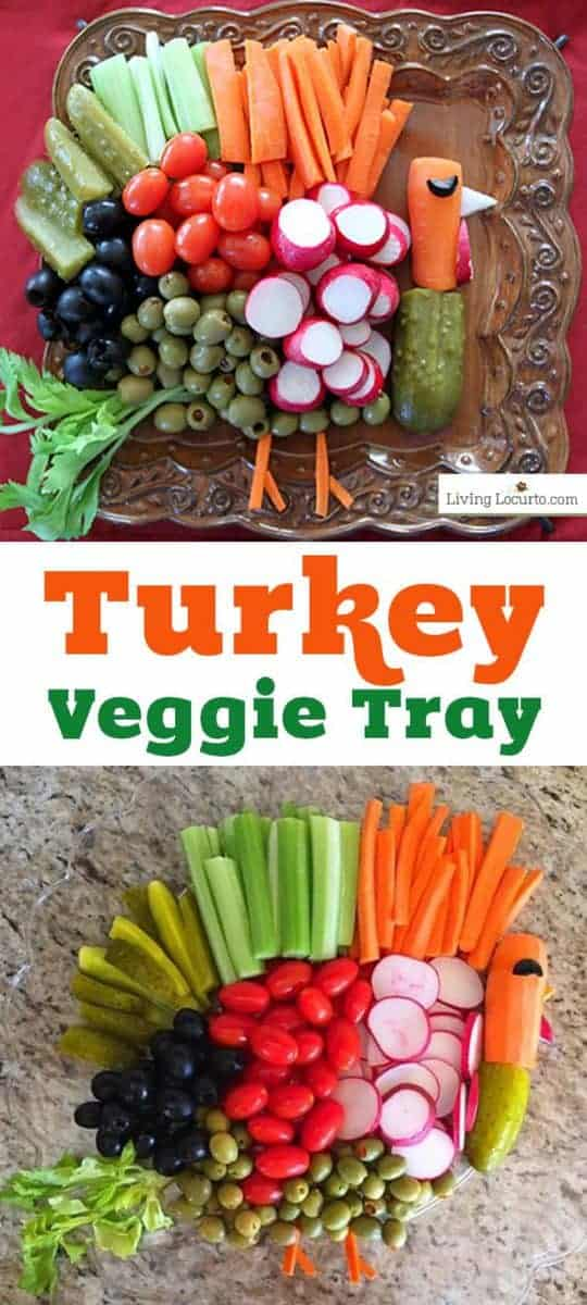 Make a Turkey Vegetable Tray for Thanksgiving! These turkey veggie trays are a fun ideas for a Thanksgiving table or healthy fall party food.