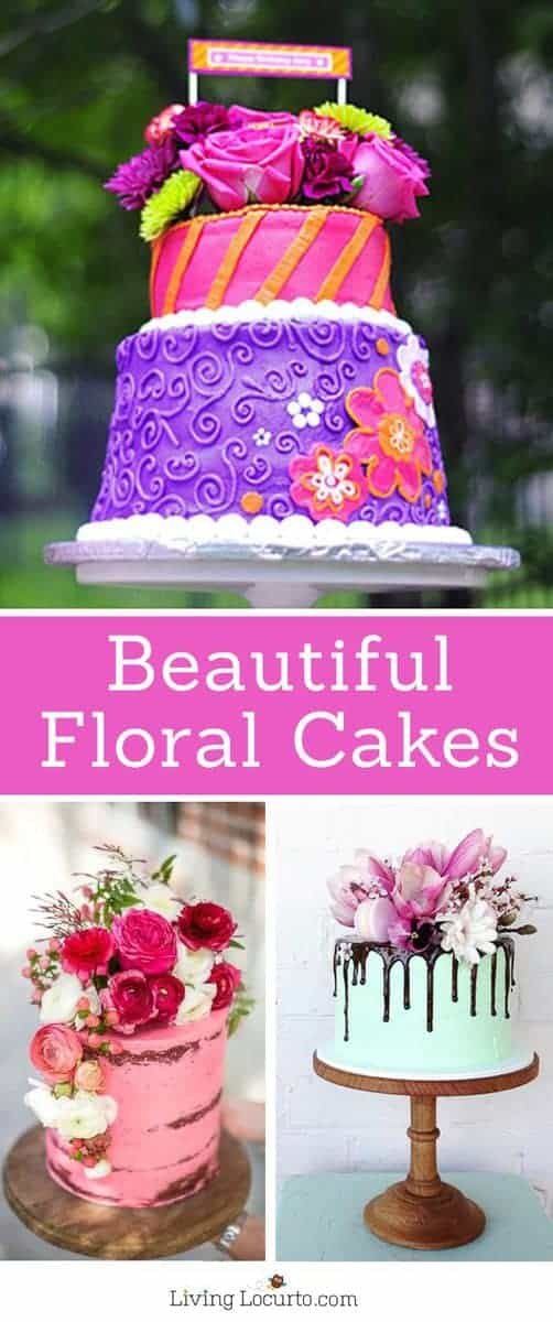 The most amazing cakes! Floral cakes topped with fresh flowers, drippy frosting and unique designs. Perfect ideas for a birthday cake, baby shower, wedding or any type of party!