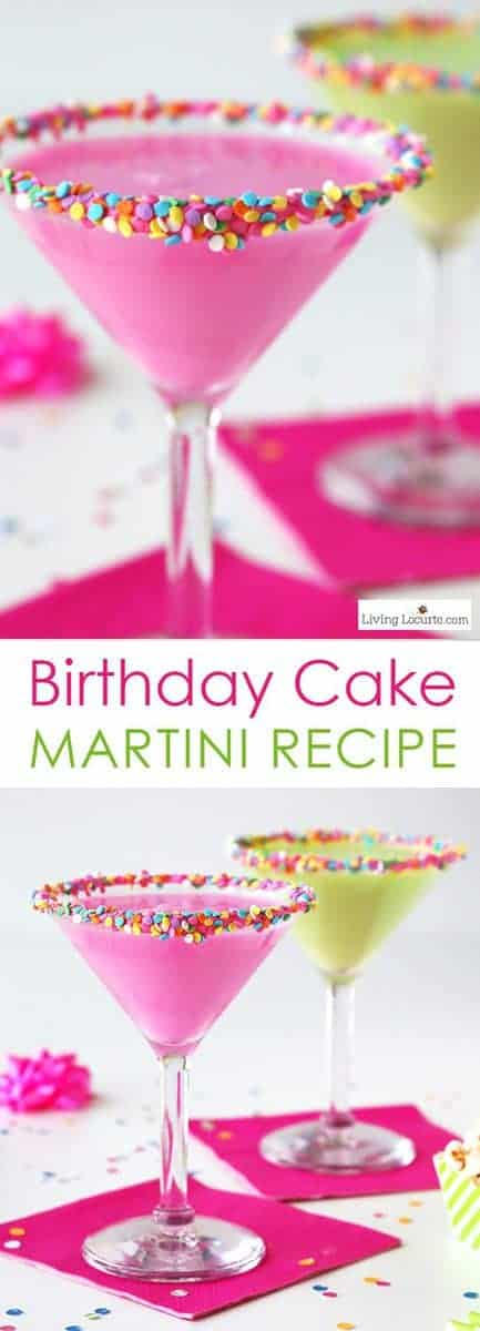 This is such a fun colorful party drink! How to make a colorful Birthday Cake Martini with candy sprinkles. An easy cocktail recipe that tastes just like a birthday cake! Best Party Recipe Idea.