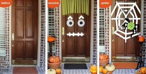 Easy DIY Halloween Door Decor Ideas - Cute Crafts and Halloween Decorations for Trick or Treat night. LivingLocurto.com