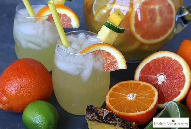 The Best Sangria Recipes for a party! Easy red and white wine cocktail drinks. LivingLocurto.com