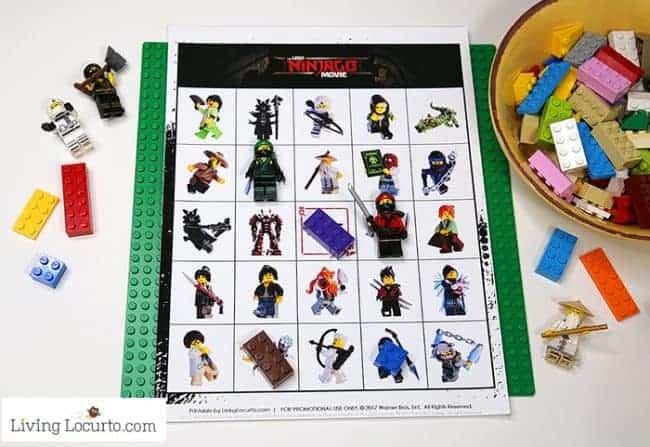 32 Indoor Crafts for Kids - Lego Bingo Printable Game
