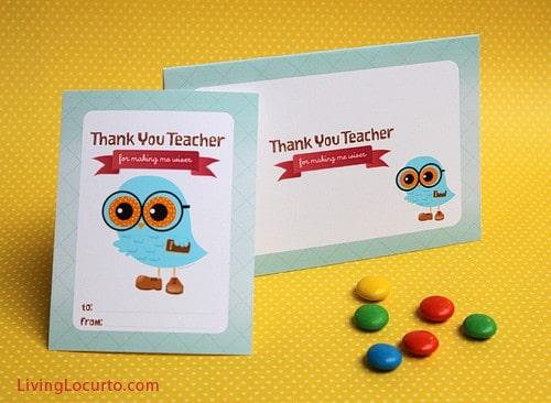 Cute Owl Teacher Appreciation Gift Idea. 10 Cute Teacher Appreciation Gifts with Free Printables