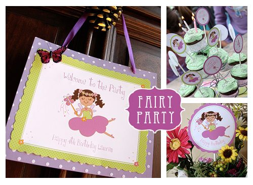 Fairy Birthday Party Printables - Bring the sparkle to any birthday party or kids activity with the most magical Fairy Party and Craft Ideas!