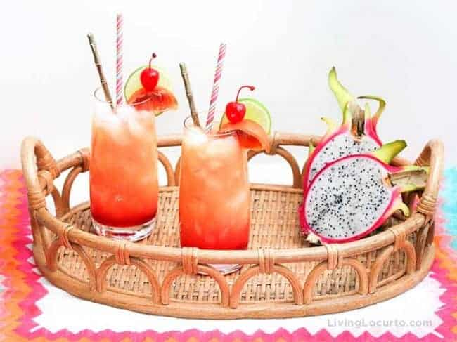 Zombie Cocktail Recipe. Easy Tropical Rum Punch Tiki Drink for a luau party.