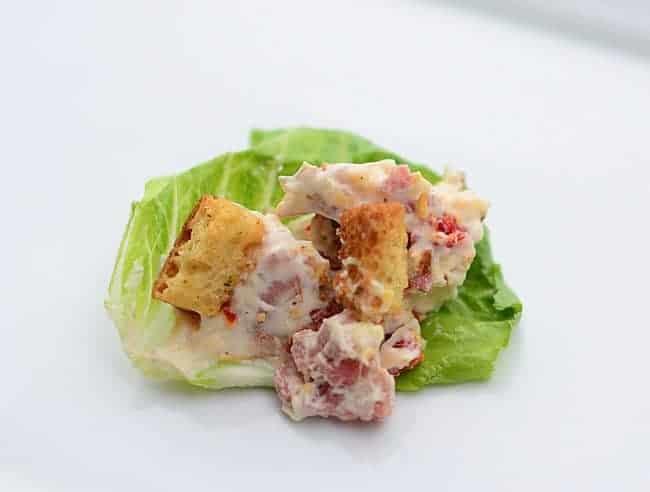 BLT Dip recipe. Low carb Bacon Lettuce Tomato Dip Recipe.