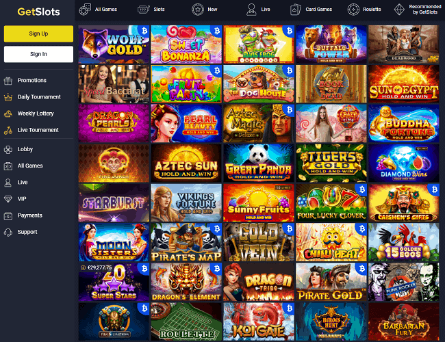 GetSlots Casino Review Page