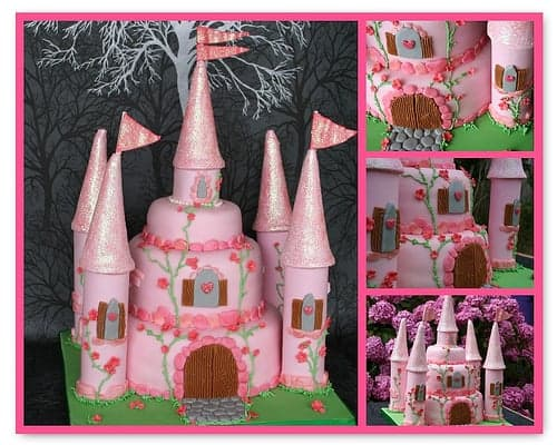 Amazing Princess Castle Cake! Inspiring princess cakes for a royal princess party! Cute birthday cake ideas for girl birthday party theme or the princess in your life.