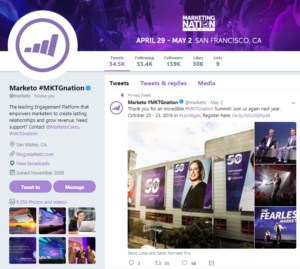 How events trend on Twitter - Marketo