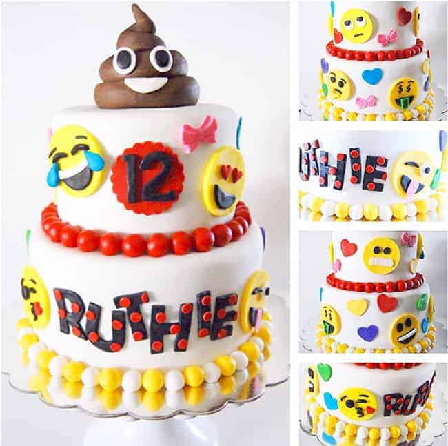 The Best Emoji Cake & Desserts. Emoji cake ideas and dessert inspiration for an Emoji Party. From birthday and graduation parties to school events, an emoji party theme is fun for all! LivingLocurto.com