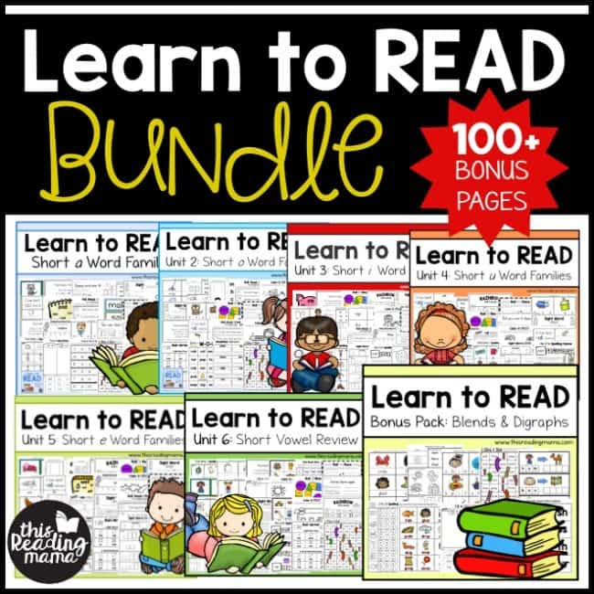 Learn to Read Bundle - Homeschool Preschool Curriculum