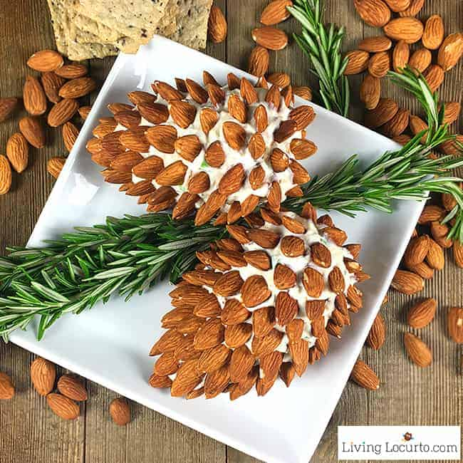 25 Christmas Appetizer Party Recipes - Pine Cone Cheese Ball Recipe