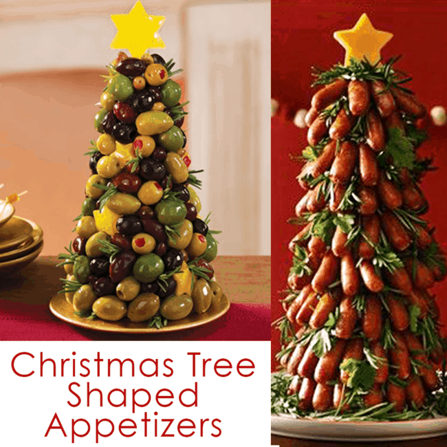 Christmas Tree Food | Fun Holiday Party Appetizers. Christmas Tree Shaped Appetizers perfect for a Holiday Party!