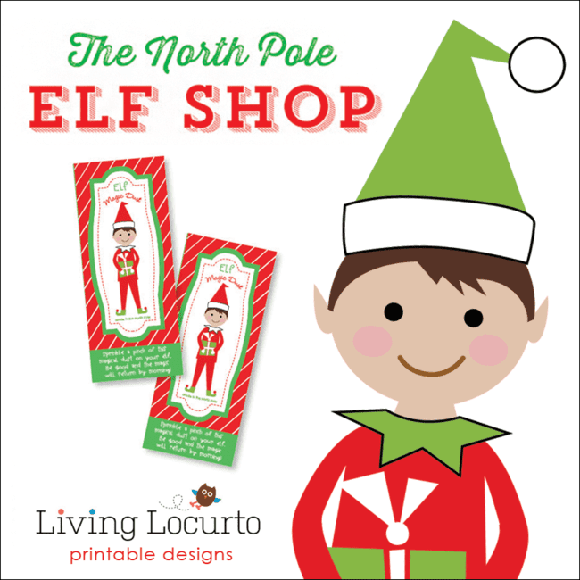 The North Pole Elf Shop - Fun Printables for your Christmas Elf by Living Locurto