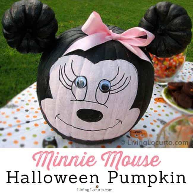 Minnie Mouse Halloween Pumpkin