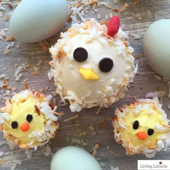 Cute chicken cupcakes! 35 Best Easter Recipes and Crafts