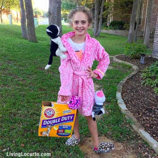 Crazy Cat Lady Cute Halloween Costume For Kids! Funny DIY Trick or Treat Costume Idea for kids who love cats.