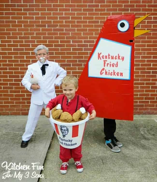 KFC Kentucky Fried Chicken - Cute Kids Halloween Costumes! Over 25 of the Best DIY Halloween Ideas to inspire you on Trick or Treat night!