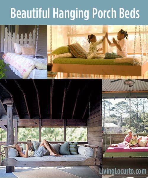 15 Beautiful Hanging Porch Beds