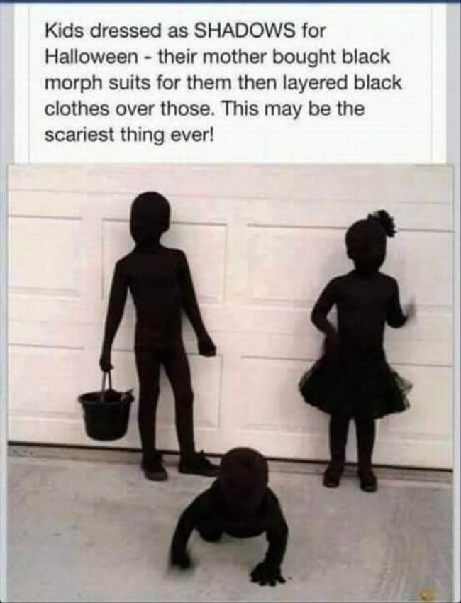 Shadows - - Cute Kids Halloween Costumes! Over 25 of the Best DIY Halloween Ideas to inspire you on Trick or Treat night!