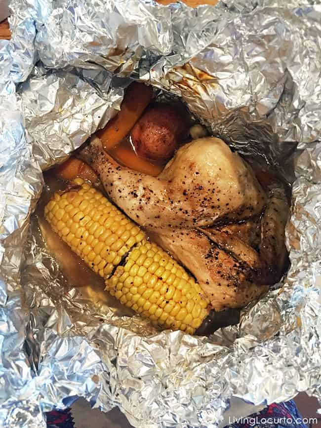 Cracker Barrel Campfire Meal Chicken - Delicious fun food camping meals. Rolo S'mores and Campfire Meals make summer eating fun!