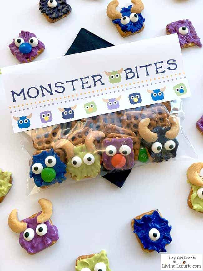 Monster Bites are cute Monster Candy Pretzels