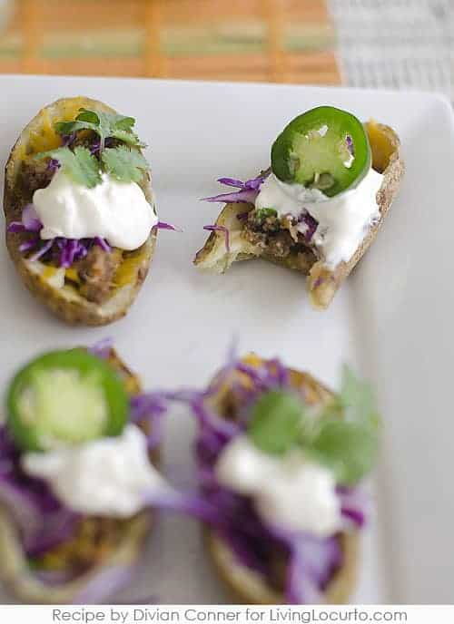How to make Taco Potato Skins - Easy Party Appetizer Recipe