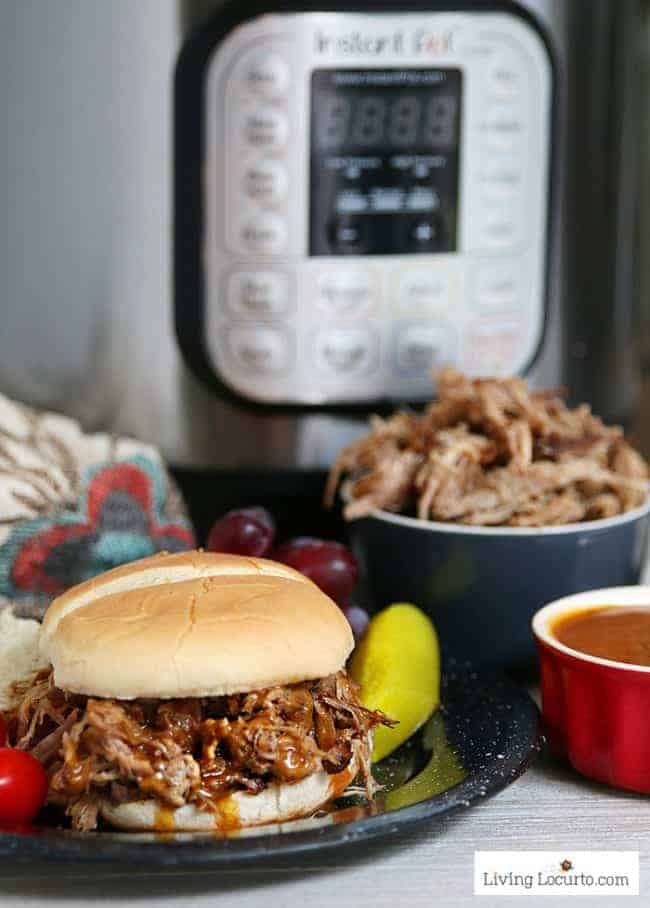 Instant Pot Pulled Pork BBQ Pressure Cooker Recipe Easy Dinner or BBQ Sandwich Recipe