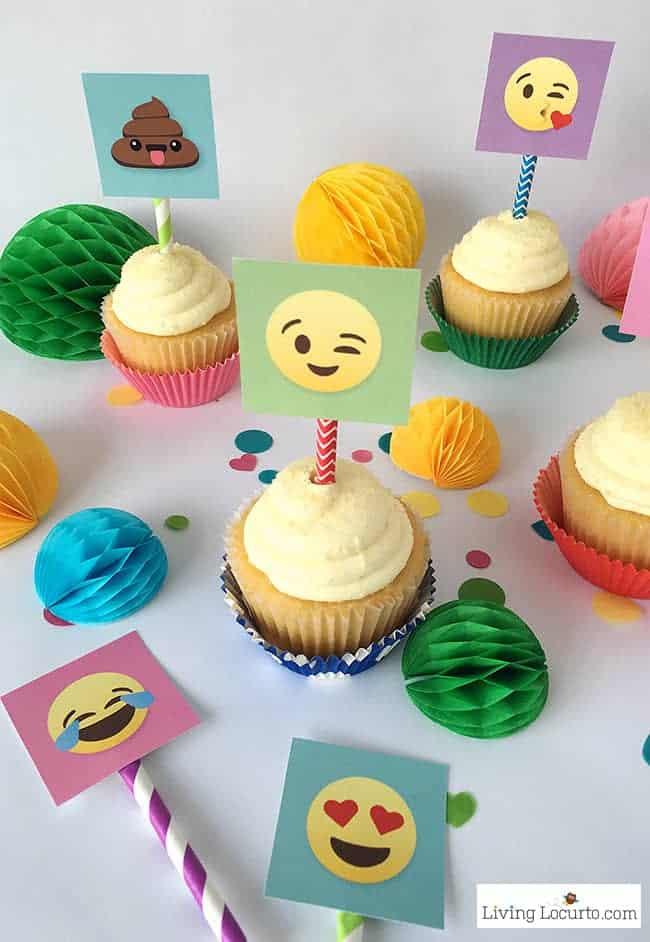 Emoji Party Ideas! Colorful Free Printables