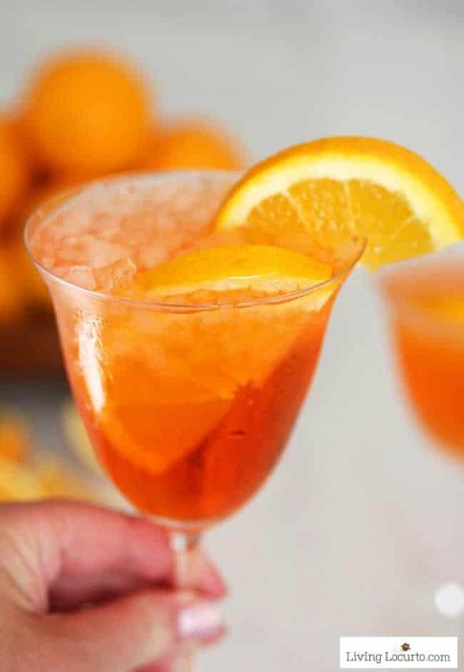 Aperol Spritz recipe. A refreshing sparkling Italian orange soda cocktail.