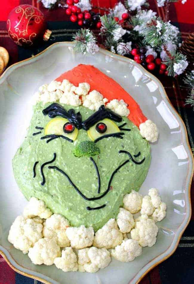 The BEST Grinch Christmas Party Food - Grinch Dip