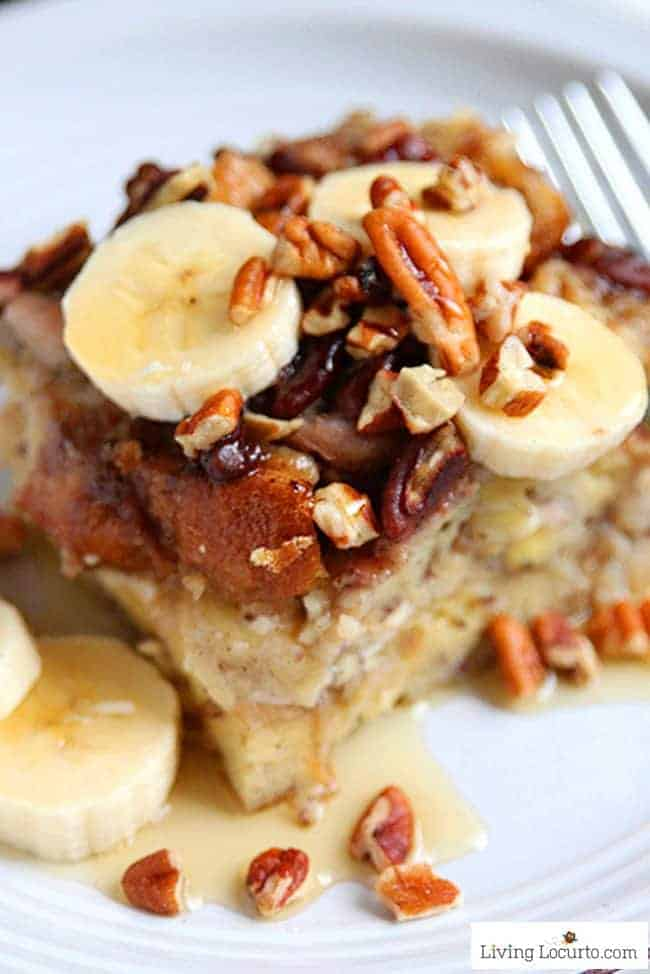 One Pan Instant Pot French Toast Recipe! How to make banana french toast in an Instant Pot! This easy Cream Cheese Banana French Toast Recipe is a fast way to make breakfast in a pressure cooker. LivingLocurto.com