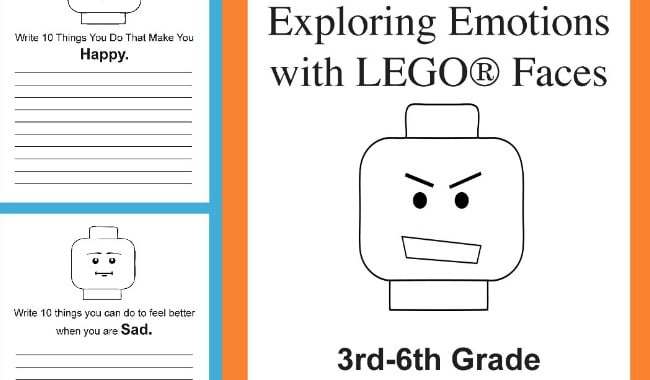 Free Exploring Emotions with LEGO Faces Printable