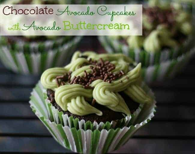 Avocado Cupcakes with Avocado Buttercream @cupcakesandcrinoline