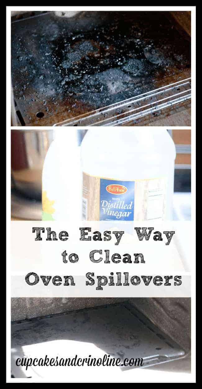 The Easy Way to Clean Oven Spillovers from cupcakesandcrinoline.com